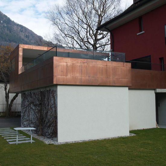 Bless Gebäudehüllen: Referenz sitzplatz Kupfer